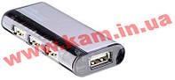 4-портовый USB 2.0 концентратор (Разъемы: 1 x USB Mini Type B Female + 4 x USB Type (UH-284 Silver)