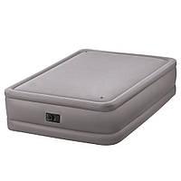 Надувная кровать Intex 64468 со встроенным электронасосом 152x203x56см