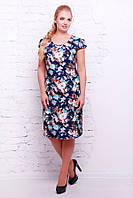Летнее платье Iris р.54-60 синий