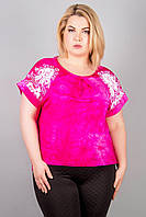 Женская батальная блуза Флорет