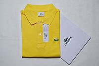 Оригинальное мужское поло Polo Lacoste (Поло Лакост) желтая - оригинальная