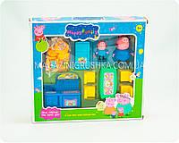 Детский игровой набор «Кухня Свинки Пеппы» (2 фигурки, мебель, продукты посуда)