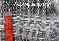 Тесьма (лента) шторная прозрачная 6 см шириной