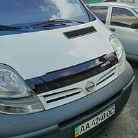 Дефлекторы капота (мухобойка) на Рено Трафик с 01-15 (на крепижах) ANV air.