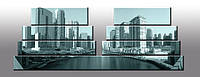"Модульная панорама ""New York bridge"". Картина на холсте. Ультрафиолетовая печать."