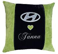 Сувенирная подушка с логотипом хюндай Hyundai