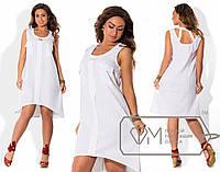 Летнее льняное платье в батальных размерах в расцветках i-1515581