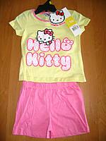 Детская летняя пижама для девочки Китти, Hello Kitty Sun City, 3-8лет