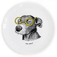 """Сувенирная тарелка """"Собака-подозревака"""""""