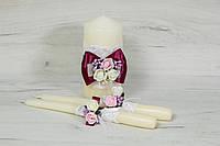 Набор свадебных свечей (Семейный очаг) в цвете марсала