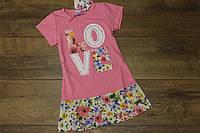 Туника - платье для девочек 2- 8 лет