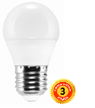 LED лампа LEDEX 3W, E27, шарик 285lm, 4000К, 160º, чип: Epistar (LB858)