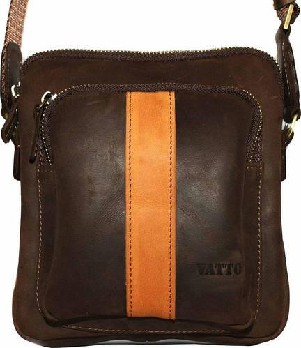Стильная мужская сумка на плечо из натуральной кожи VATTO Mk-48 Kr450.190 коричневая с рыжим