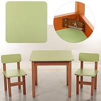 Деревянный детский столик со стульчиками Bambi   F091, Green