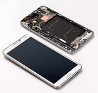 Samsung N9005 Note 3 модуль белый (дисплей с тачскрином с средней частью корпуса)