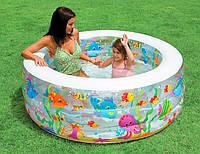 Надувной бассейн INTEX Аквариум 58480 (152*56 см). Надувное дно.