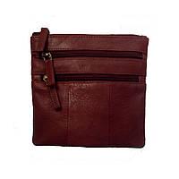 Мужская кожаная сумка-планшет на плечо маленькая Visconti 18885 brn