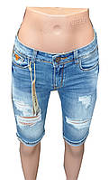 Бриджи женские джинсовые Gallop рваные