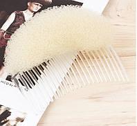 Модный аксессуар для волос, инструмент для прически, гребень с пончиком, для укладки волос, цвет - блонд