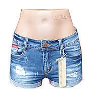 Шорты женские джинсовые с потертостями