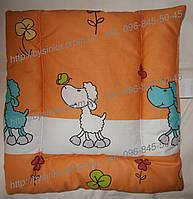 Детская подушка для новорожденных нулевка антиалергенное силиконовое волокно 38х38 см