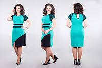 Платье женское с разрезом гипюр полу батал, фото 1