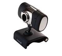 Веб камера с микрофоном для компьютера Hi-Rali HI-CA009: 640х480, USB 2.0, ручной фокус, прищепка