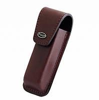 Ножны для складного ножа: телячья кожа 1-й сорт, 110х30х15мм, на липучке, коричневый