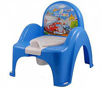 Детский горшок-кресло Веселка Cars PO-053 синий Tega  60721-1