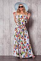 Красивое спадающее длинное платье