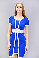 Яркое платье из бенгалина короткий рукав размеры 42 44 46 48 50 52 54 56 58 60 62 64