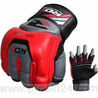 Снарядные перчатки, битки RDX Leather Red-L