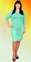 Молодежное платье с напуском-имитация костюма