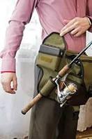 Поясная сумка с держателем удилища Стакан С55 (ideaFisher Stakan S55). Свободные руки!