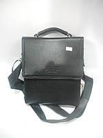 Стильная мужская сумка барсетка через плечо BWSH черная длинная короткая ручка недорого 7 км оптом Г1584/01608