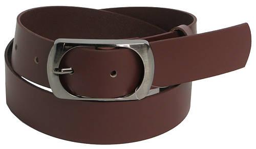 Мужской кожаный ремень под джинсы Cavaldi 9990 коричневый ДхШ: 110х4 см.