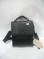 Летняя мужская сумка барсетка через плечо BWSH черная длинная короткая ручка недорого 7 км оптом Г1584/01609