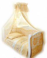 Комплект детской постели с зайчиками Twins Comfort С-023, 8 элементов