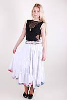 Стильная летняя женская юбка белого цвета