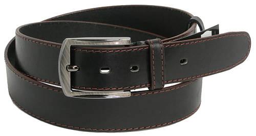 Мужской кожаный ремень под джинсы FLX 9988 черный ДхШ: 133х4 см.