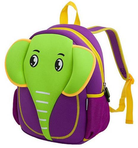 Очаровательный рюкзак, зеленый слоник на 5 л. Nohoo NH012-1