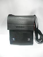 Летняя мужская сумка через плечо черная Delika длинная короткая ручка недорого 7 км оптом Г1584/01631