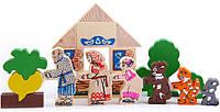 """Кукольный театр """"Сказка Репка"""" игрушки из дерева"""