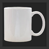 Нанесение изображения на чашку перламутровую белую.
