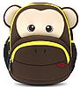 Красивый детский рюкзачок обезьяна  Nohoo NH020-2, коричневый на 4 л