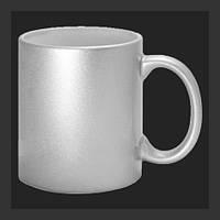 Нанесение изображения на чашку перламутровую серебристую.
