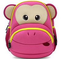 Красивый детский рюкзачок обезьяна  Nohoo NH020-3, розовый на 4 л