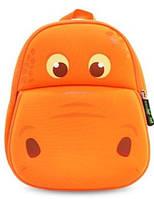 Оранжевый рюкзачок бегемотик  Nohoo NH028-2, 4 л