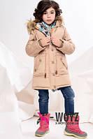 Куртка зимняя (парка) детская+подросток бежевого  цвета размеры 32,34,36,38,40,42  X-Woyz
