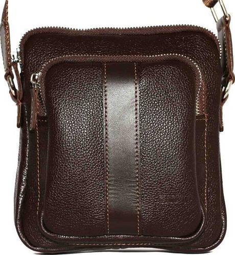 Практичная мужская сумка на плечо из натуральной кожи VATTO Mk-48FL3Kаz400 коричневая